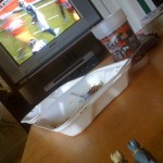 Perfect Sunday morning: NFL and take-out...
