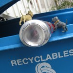 Of course they remembered from their camping trip where recyclable cans go!