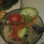 The brown rice & veggies was good...