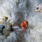 Suddenly, the Snow Dragon appeared out of nowhere. Gray & Nameless and the princess were terrified!
